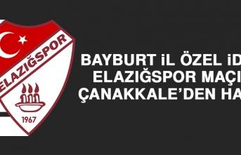 Bayburt İÖİ-Elazığspor Maçına Çanakkale'den Hakem