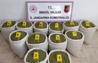 Bingöl'de 213 kilogram esrar ele geçirildi