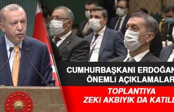 Cumhurbaşkanı Erdoğan'ın Basın Toplantısına Zeki Akbıyık da Katıldı