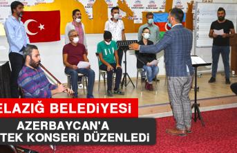 Elazığ Belediyesi Azerbaycan'a Destek Konseri Düzenledi