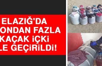 Elazığ'da 1 Tondan Fazla Kaçak İçki Ele Geçirildi