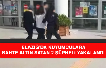 Elazığ'da Kuyumculara Sahte Altın Satan 2 Şüpheli Yakalandı