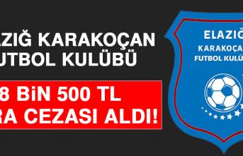 Elazığ Karakoçan Futbol Kulübü 8 Bin 500 TL Para Cezası Aldı
