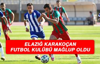Elazığ Karakoçan Futbol Kulübü Mağlup Oldu
