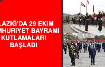 Elazığ'da 29 Ekim Cumhuriyet Bayramı Kutlamaları Başladı