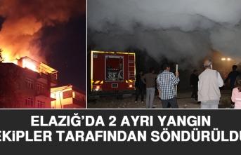 Elazığ'da 2 Ayrı Yangın