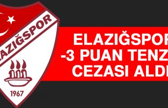 Elazığspor -3 Puan Tenzili Cezası Aldı