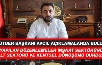 """ELMÜTDER Başkanı Avcıl: """"İnşaat sektörü için tehlike çanları çalıyor"""""""