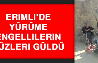 Erimli'de Yürüme Engellilerin Yüzleri Güldü