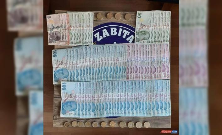 Erzurum'da zabıtanın yakaladığı dilencinin üzerinden 7 bin 961 lira çıktı