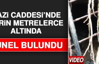 Gazi Caddesi'nde Yerin Metrelerce Altında Tünel Bulundu