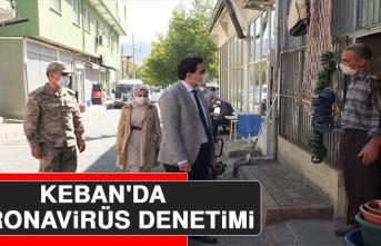 Keban'da Koronavirüs Denetimi