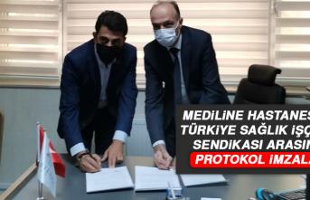 Mediline Hastanesi İle Türkiye Sağlık İşçileri Sendikası Arasında Protokol İmzaladı