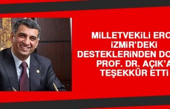 Milletvekili Erol, İzmir'deki Desteklerinden Dolayı Prof. Dr. Açık'a Teşekkür Etti