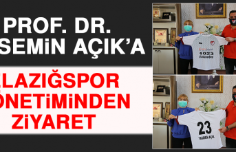 Prof. Dr. Yasemin Açık'a Elazığspor Yönetiminden Ziyaret