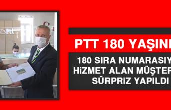 PTT, 180 Sıra Numarasıyla Hizmet Alan Müşteriye Sürpriz Yaptı