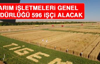 Tarım İşletmeleri Genel Müdürlüğü 596 İşçi Alacak
