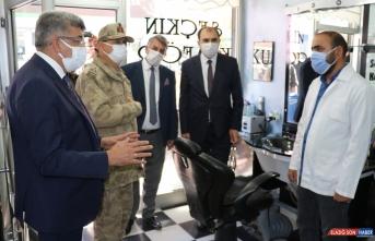 Van ve Hakkari'de Kovid-19 tedbirleri denetimi yapıldı