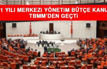 2021 Yılı Merkezi Yönetim Bütçe Kanunu TBMM'den Geçti
