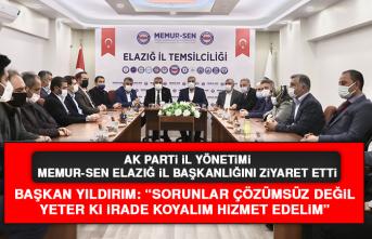 AK Parti İl Yönetimi, Memur-Sen Elazığ İl Başkanlığını Ziyaret Etti