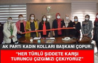 """Başkan Çopur: """"Her türlü şiddete karşı turuncu çizgimizi çekiyoruz"""""""