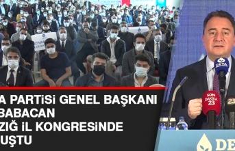 Deva Partisi Genel Başkanı Babacan Elazığ İl Kongresi'nde Konuştu