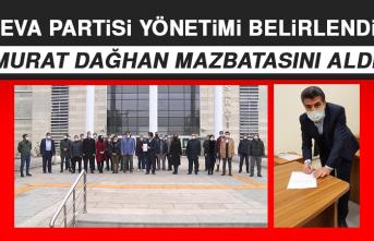 Deva Partisi İl Başkanı Murat Dağhan Mazbatasını Aldı