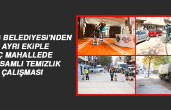 Elazığ Belediyesi'nden 7 Ayrı Ekiple, Üç Mahallede Kapsamlı Temizlik Çalışması