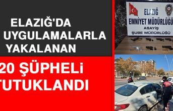 Elazığ'da Şok Uygulamalarla Yakalanan 20 Şüpheli Tutuklandı