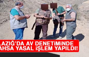 Elazığ'da Av Denetimi, 6 Şahsa Yasal İşlem Yapıldı