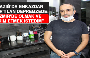 """Elazığ'da Enkazdan Çıkartılan Depremzede: """"İzmir'de Olmak ve Yardım Etmek İstedim"""""""