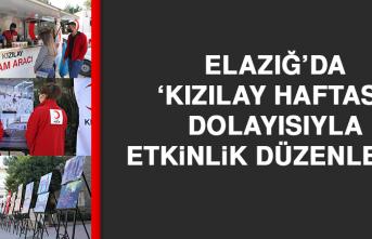 Elazığ'da 'Kızılay Haftası' Dolayısıyla Etkinlik Düzenlendi