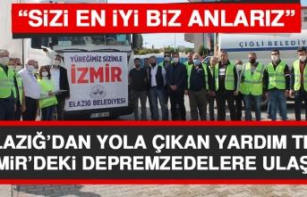 Elazığ'dan Yola Çıkan Yardım Tırı İzmir'deki Depremzedelere Ulaştı