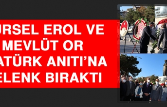 Gürsel Erol ve Mevlüt Or, Atatürk Anıtı'na Çelenk Bıraktı