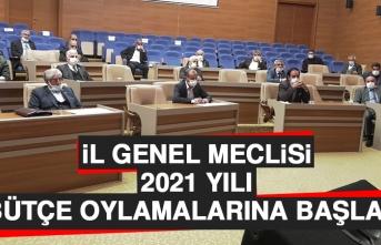İl Genel Meclisi, 2021 Yılı Bütçe Oylamalarına Başladı