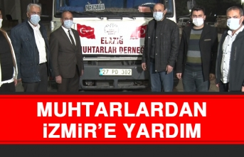 Muhtarlardan, İzmir'e Yardım