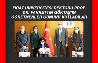 Rektör Prof. Dr. Göktaş'a Öğretmenler Günü Kutlaması
