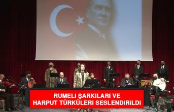 Rumeli Şarkıları ve Harput Türküleri Seslendirildi