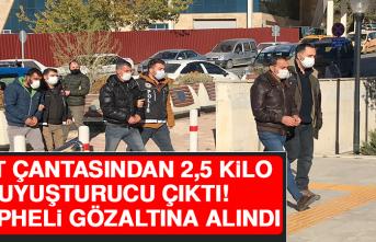 Sırt Çantasından 2,5 Kilo Uyuşturucu Çıktı, 3 Şüpheli Gözaltına Alındı