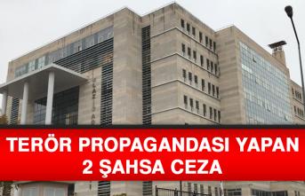 Terör Propagandası Yapan 2 Şahsa Ceza