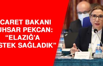 Ticaret Bakanı Ruhsar Pekcan: Afet nedeniyle Elazığ'a destek sağladık