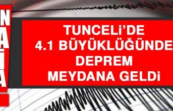 Tunceli'de 4.1 Büyüklüğünde Deprem Meydana Geldi