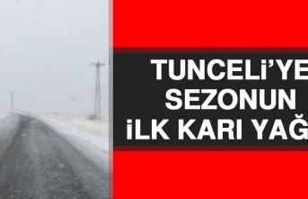 Tunceli'ye Sezonun İlk Karı Yağdı