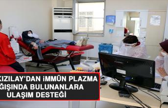 Türk Kızılay'dan İmmün Plazma Bağışında Bulunanlara Ulaşım Desteği