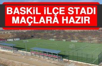 Baskil İlçe Stadı Maçlara Hazır
