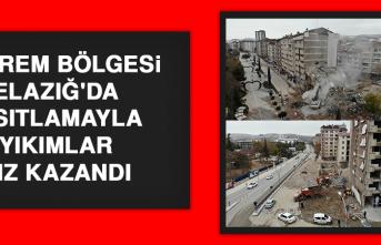 Deprem Bölgesi Elazığ'da Kısıtlamayla Yıkımlar Hız Kazandı