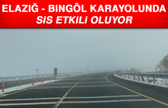 Elazığ - Bingöl Karayolunda Sis Etkili Oluyor