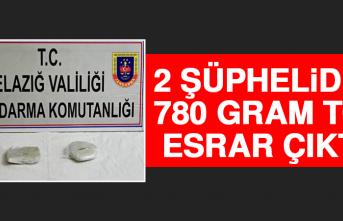 Elazığ'da 2 Şüpheliden 780 Gram Toz Esrar Çıktı!