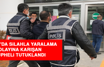 Elazığ'da Silahla Yaralama Olayına Karışan Şüpheli Tutuklandı