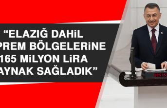 """""""Elazığ dahil deprem bölgelerine 165 milyon lira kaynak sağladık"""""""